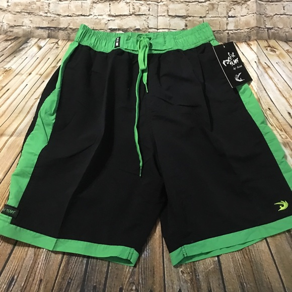 ce7849d080 Pacific Surf Swim | Black Green Trunks | Poshmark